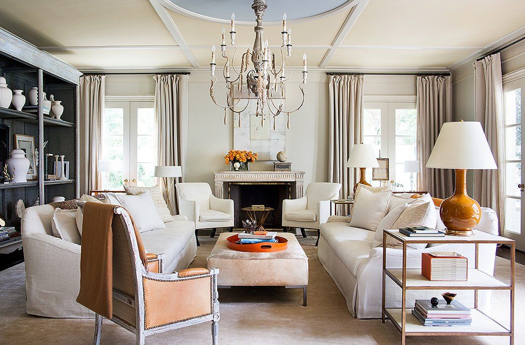 Beautiful living room with meaningful accent pieces